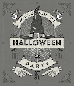 Line art illustration for halloween party