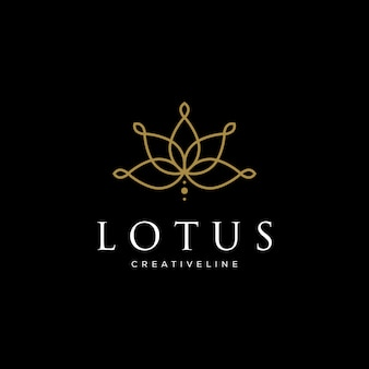 Line art lotus logo designs. logo for beauty spa salon cosmetics brand linear style