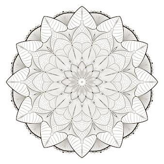 Line art mandala coloring book design