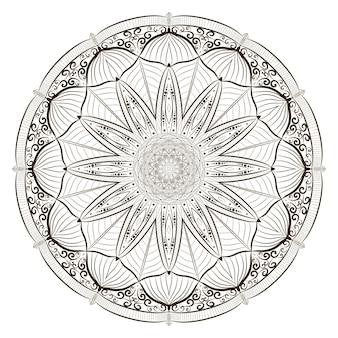 Line art mandalas for coloring