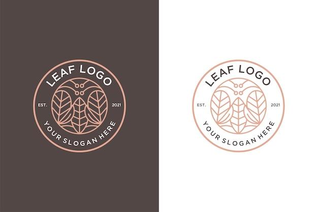 Линия искусства природа винтажный дизайн логотипа