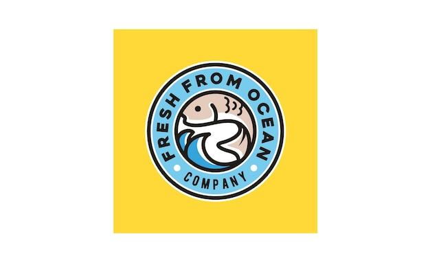 Line art poke bar дизайн логотипа