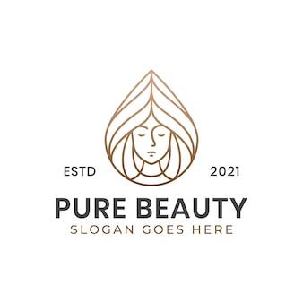 Line art чистый логотип центра красоты и здоровья