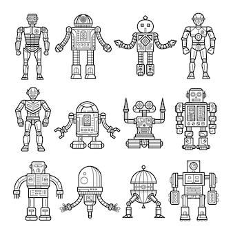 Line art robot collection