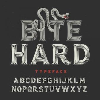Line art винтажный шрифт