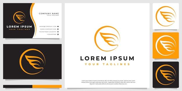 Line art крыло логотип современный минималистский