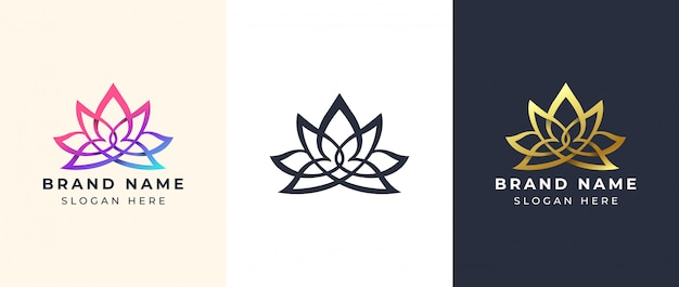 Line art yoga logo design