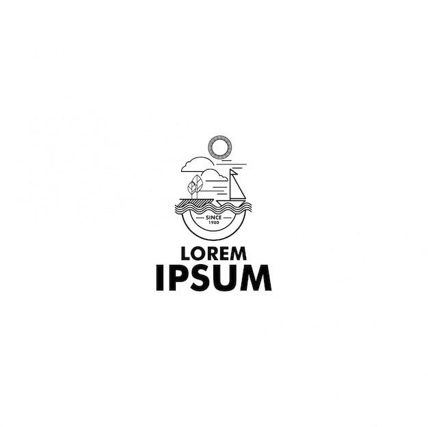Логотип приключений line art