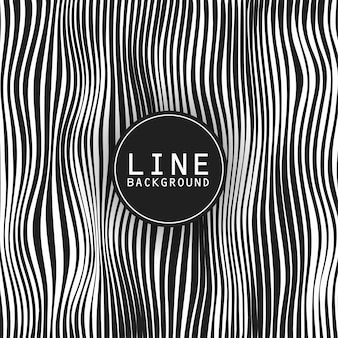 Line background design with dark theme and logo