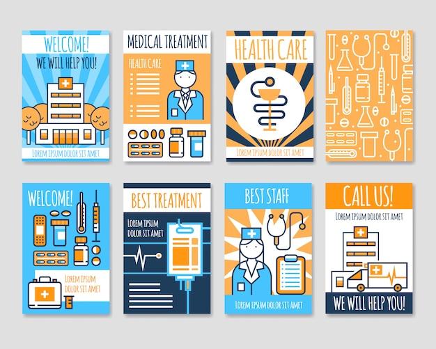 Медицинские карточки line banners