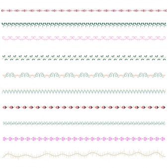 Line border set and scribble design element.
