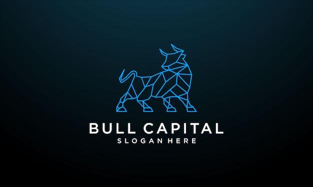 Line bull logo design