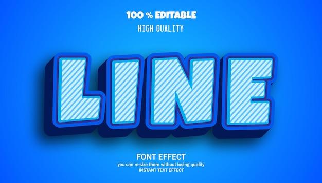 Line cartoon style editable text