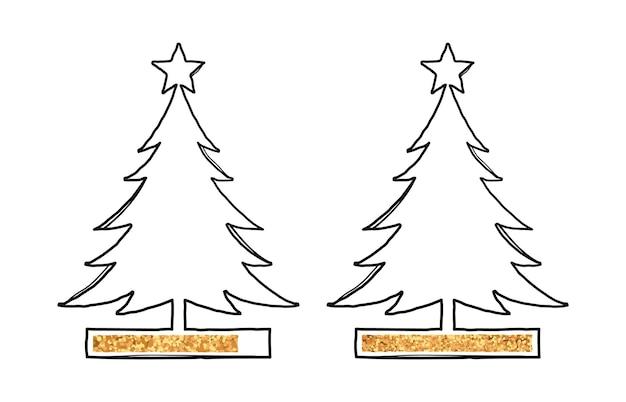 金色のローディングバーでクリスマスツリーを並べる