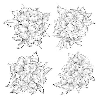 선화 꽃 꽃다발 세트
