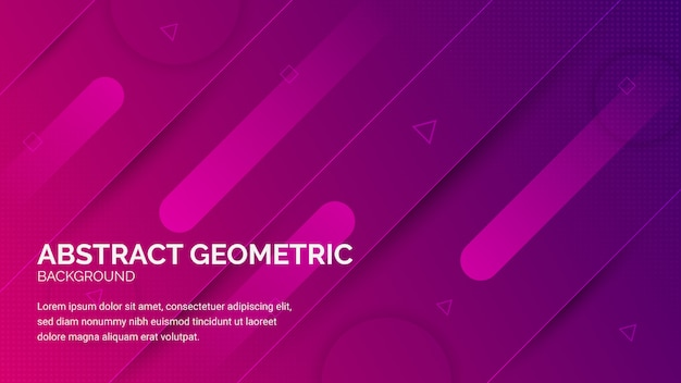 Line edge rectangle abstract background banner