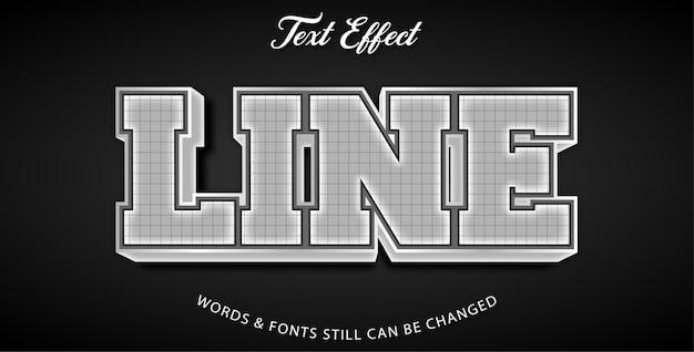 Line editable text effect