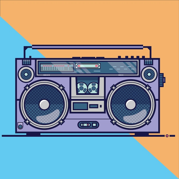 boombox vectors photos and psd files free download rh freepik com old boombox vector boombox vector image