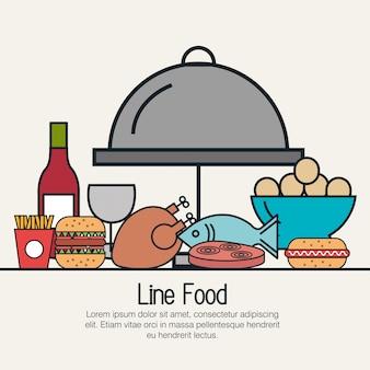 Line food  design