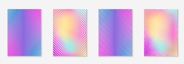 Line geometric elements. multiply wallpaper, presentation, invitation, patent layout. holographic. line geometric elements on minimalist trendy cover template.