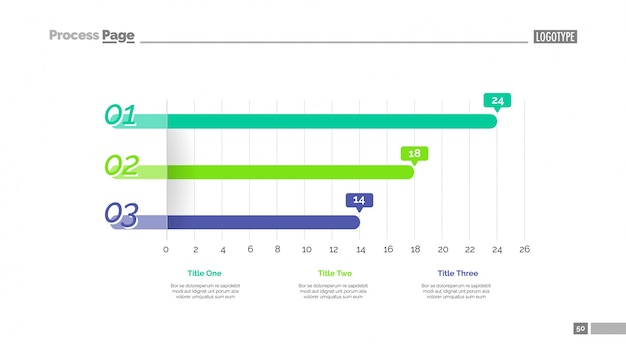 Line graph slide template