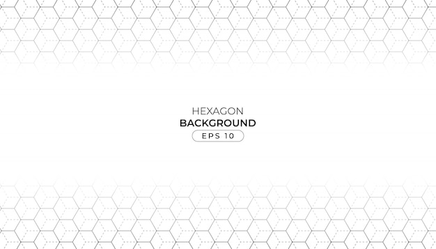 Line hexagon with gray background
