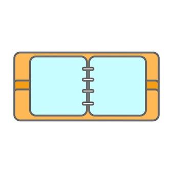 라인 아이콘 플랫 디자인 요소입니다. 메모장의 현대 벡터 그림입니다.
