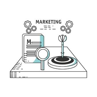 Line icons marketing concept