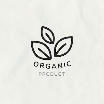 Line leaf logo template vector for branding with text