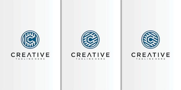 Line letter c logo  inspiration