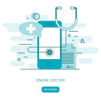 On line medical consultation