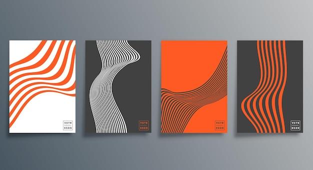 전단지, 포스터, 브로셔 표지, 배경, 벽지, 인쇄술 또는 기타 인쇄 제품을 위한 최소한의 디자인 라인. 벡터 일러스트 레이 션.