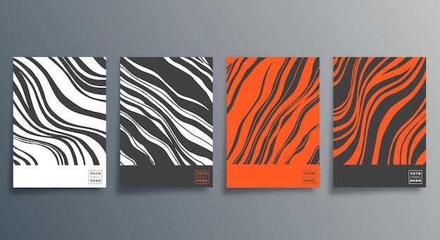 Линейный минималистичный дизайн для флаера, плаката, обложки брошюры, фона, обоев, типографии или другой полиграфической продукции. векторная иллюстрация
