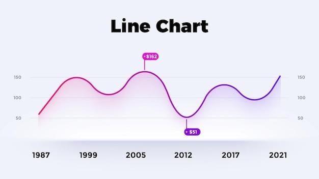 라인 neumorphic 차트 벡터 infographic 그래프 프레 젠 테이 션 다이어그램 템플릿