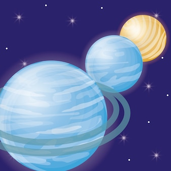 Line of planets icon