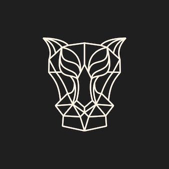 Line predator head vector illustration