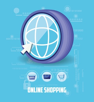 On line shopping with browser
