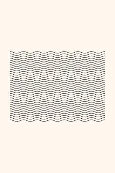 Line stripe ribbon boho minimalist shape icon poster template.