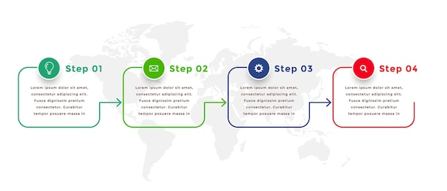 Line style directional infographic template