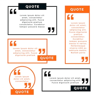 Line style geometric quotes template set