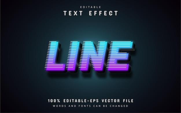 Line text effect Premium Vector