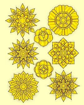 Line thia vintage flower