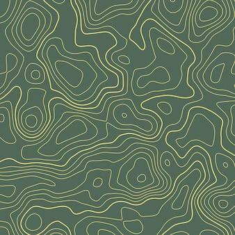 Линия горизонтальной топографической карты