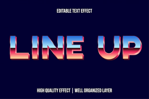 Line up 3d text effect style for movie title