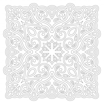 Line vintage art for coloring book page
