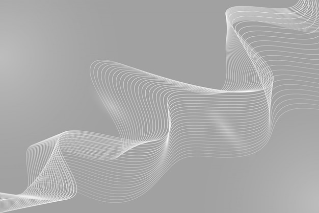 Line wave abstract background