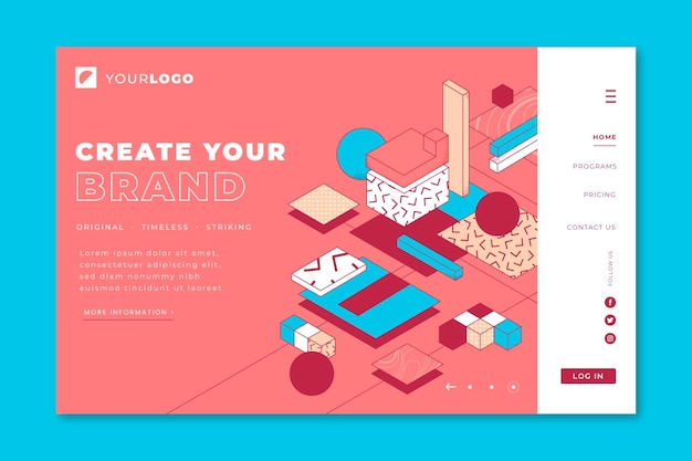 Lineal 3d landing page