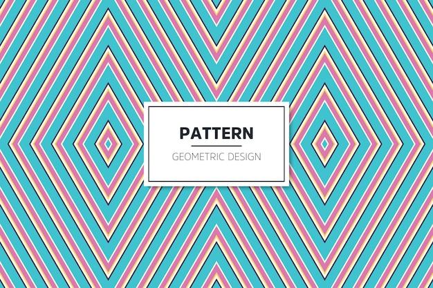 Modello senza cuciture geometrico colorato lineare
