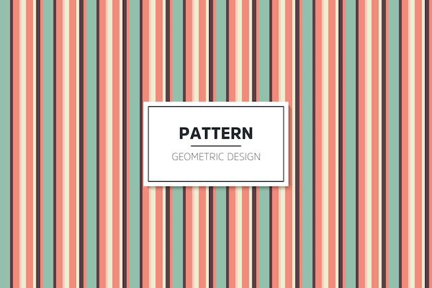 線形のカラフルな幾何学的なシームレスパターン