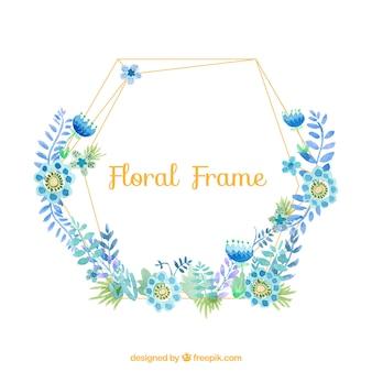 Lineal floral frame